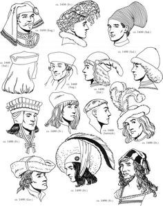 Types Of Medieval Hats   Google Search