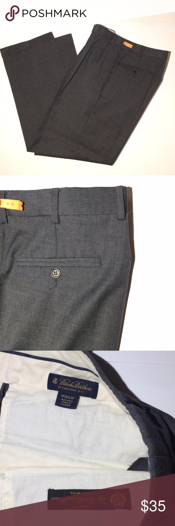 7a785cec78 Brooks Brothers loro Piana Dress pants 36 x 32 BROOKS BROTHERS LORO PIANA  WOOL DRESS PANTS