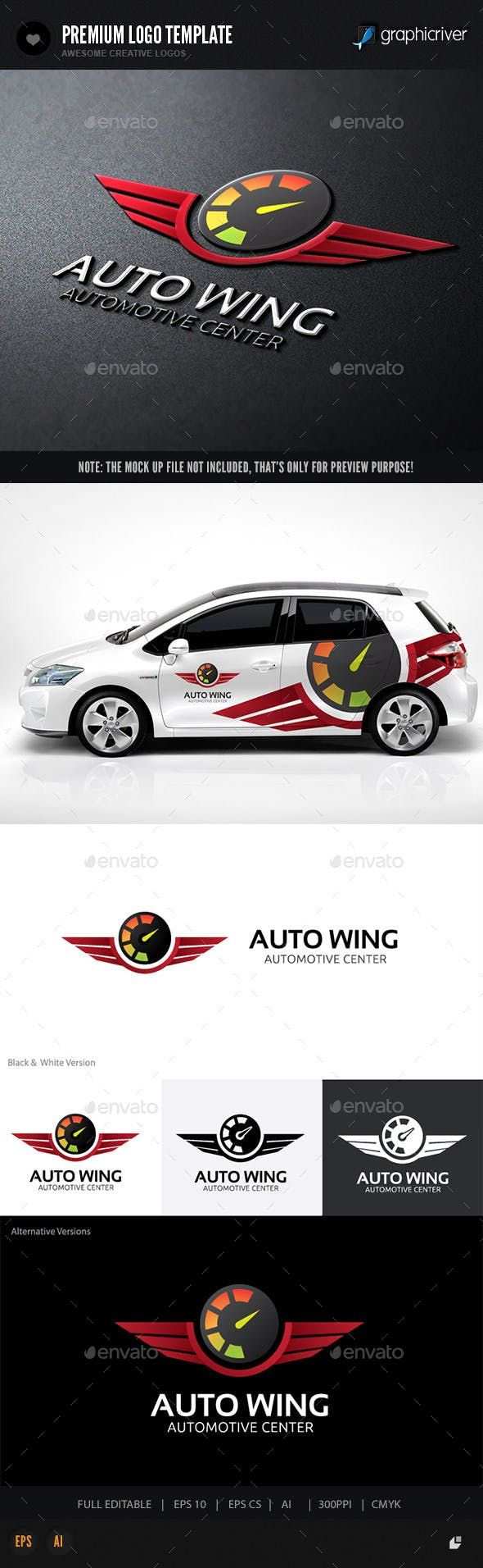 Auto Wing Crests Logo Templates Logo templates