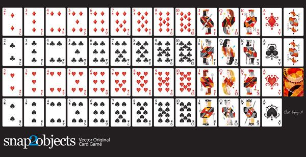 Free Vector Playing Cards Deck Printable Playing Cards Printable Cards Blank Playing Cards