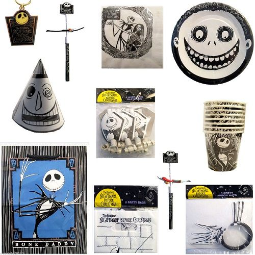 There was an entire line of  Nightmare Before Christmas  paper birthday supplies in 1993. LOTS of it. It frequently shows up on eBay and often for a very ...  sc 1 st  Pinterest & 1993 disney nightmare before christmas party pac pack 65 pieces ...