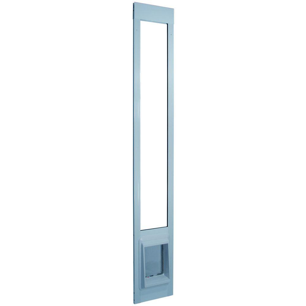 Petsafe 13 5 8 In X 23 In X Large White Plastic Pet Door Hpa11 10969 The Home Depot 1000 In 2020 Wall Pet Door Pet Screen Door Pet Door