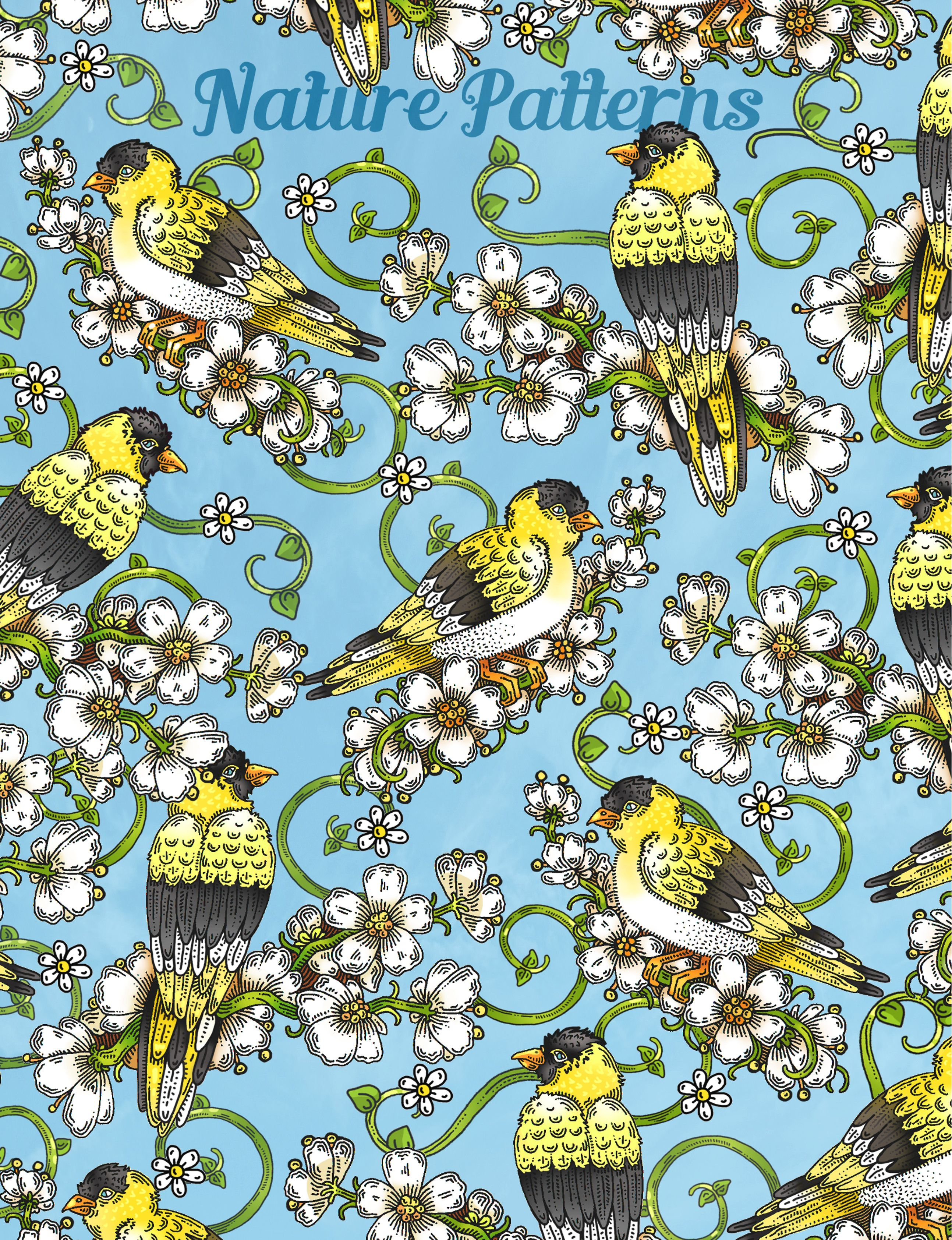Nature Patterns A nature themed coloring book Artwork by