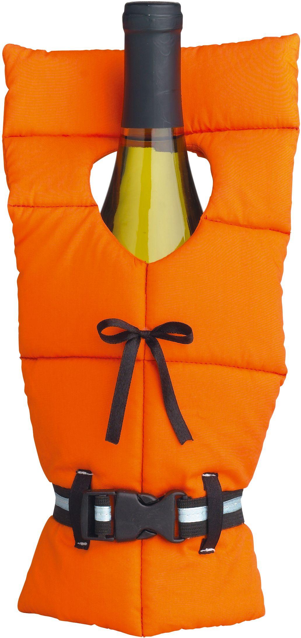 Boston warehouse orange polyester life preserver bottle