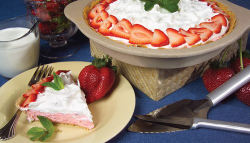 KICKIN 'N THE KITCHEN - Strawberry Cream No-Bake Cheesecake , $8.60 (http://www.kickinnthekitchen.net/strawberry-cream-no-bake-cheesecake/)