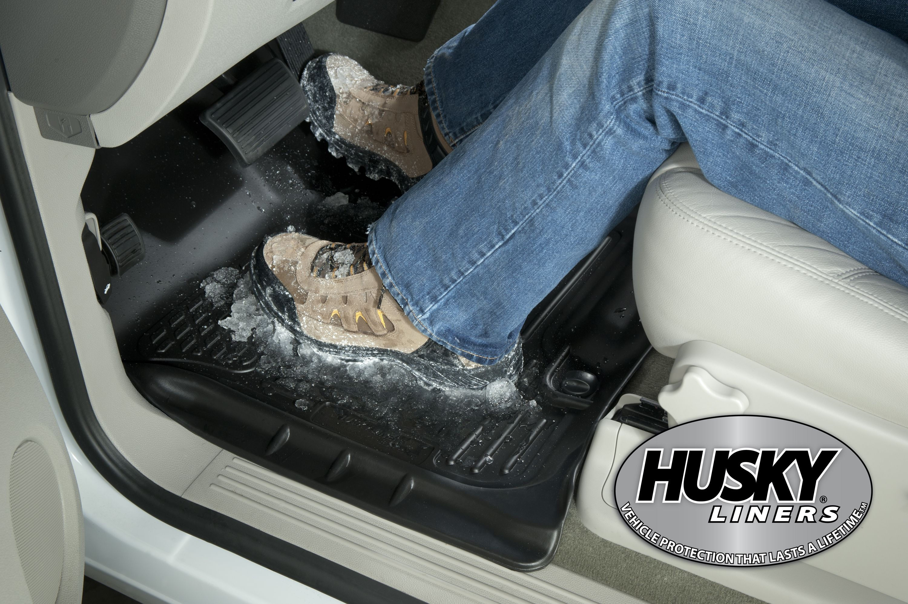 Snowy Slushy Boots No Problem Husky Liners Ford F150 Floor Liners