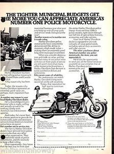 1976 Harley Davidson Police Motorcycle Ad | eBay | Old Massachusetts