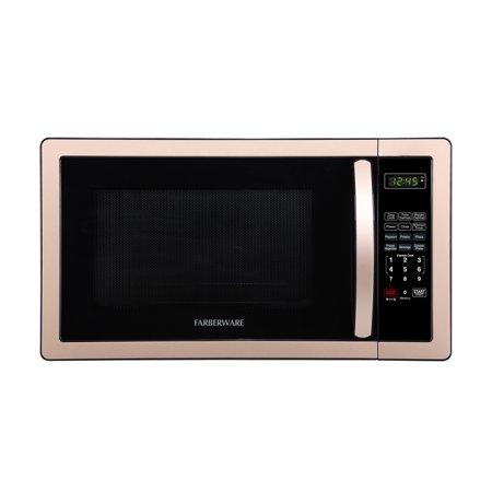 Farberware Classic 1 1 Cubic Foot 1000 Watt Microwave Oven Copper