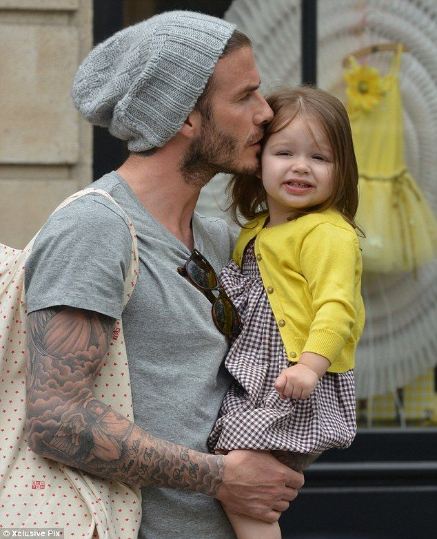 David Beckham Family 2013
