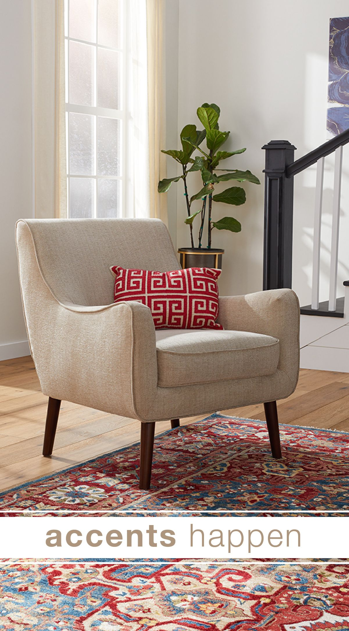 Get comfy in a beautiful new living room chair from Overstock
