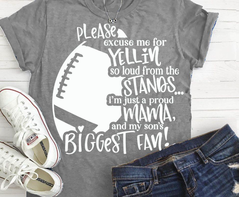 Football svg, Football Mom svg, biggest fan svg, football
