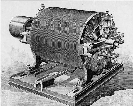Nikola Tesla's ac induction motor demonstrated (1887
