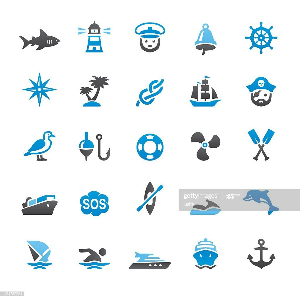 Nautical And Marine Related Vector Icons Illustration #Ad, , #Affiliate, #Related, #Marine, #Nautical, #Illustration
