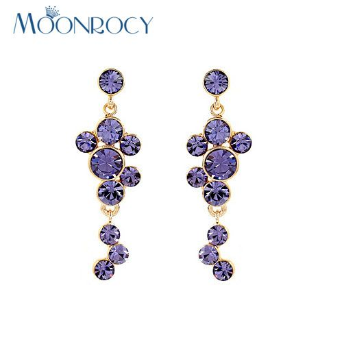 Click to Buy MOONROCY Free shipping Zirconia fashion jewelry