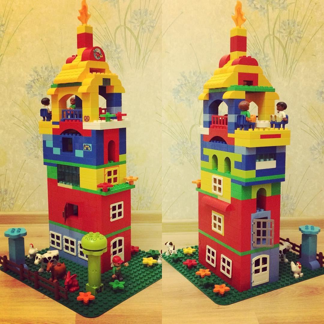 hier siehst du ein hochhaus aus lego duplo das uns von gef llt bauideen. Black Bedroom Furniture Sets. Home Design Ideas