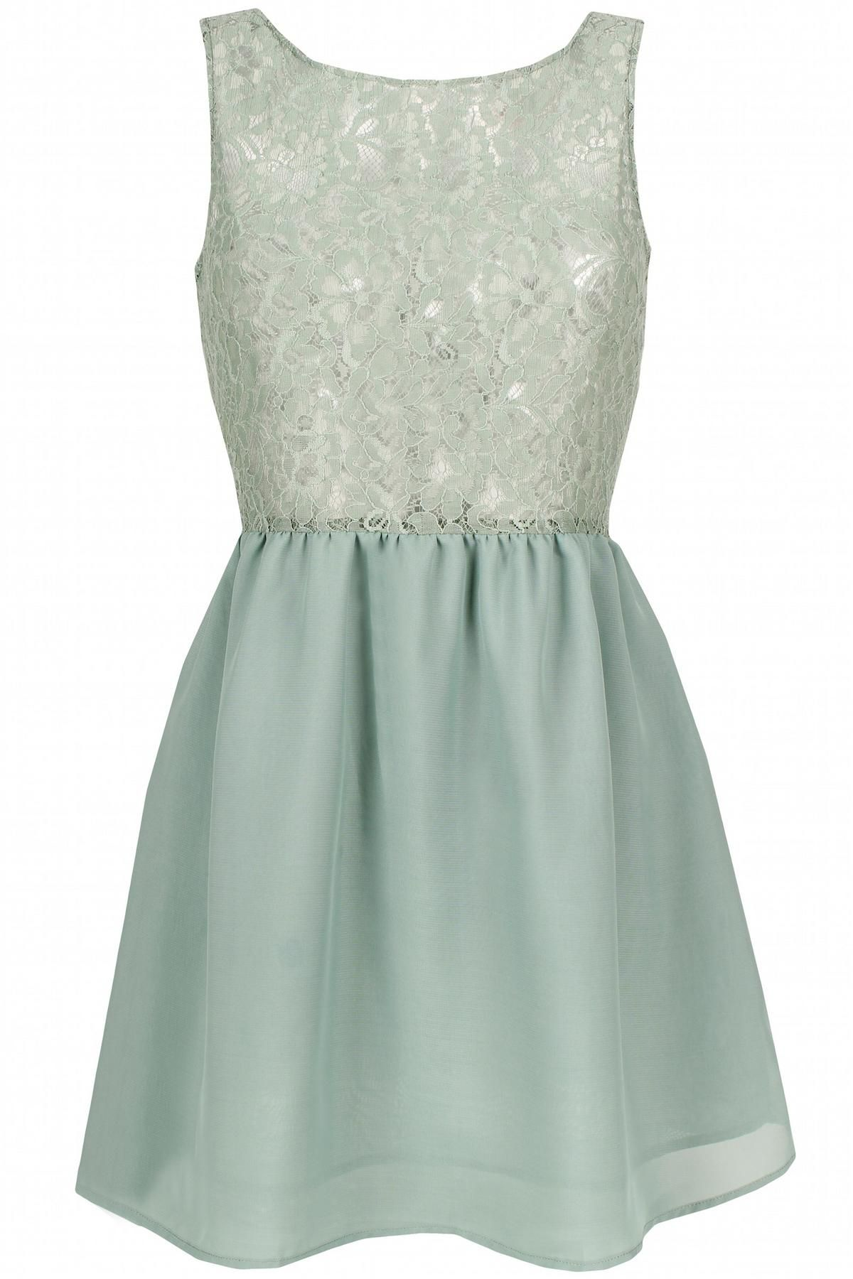Light blue dress for wedding  Mint Dress  looks I like  Pinterest  Mint dress Lace dress and