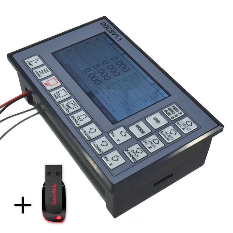 Details About Usb Cnc Control Panel 3 Axis Motion Controller 500khz Linkage G Code Arm9 Fpga