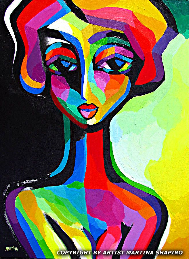 122dd9d5aa93a Introspective Woman abstract original painting by artist Martina ...