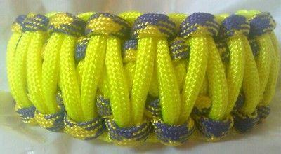 Paracord Survival Bracelet Cobra Grapevine Purple