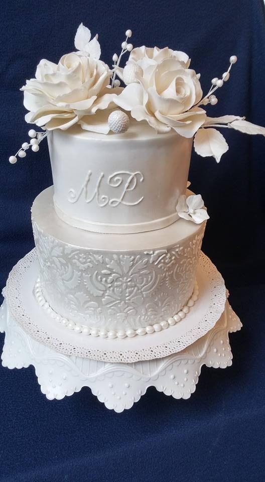 svadobná biela, Wedding cakes, Autorka: mlssna alena
