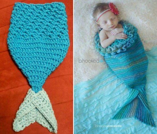 Crochet Mermaid Blanket Tutorial Youtube Video DIY | Ansicht ...