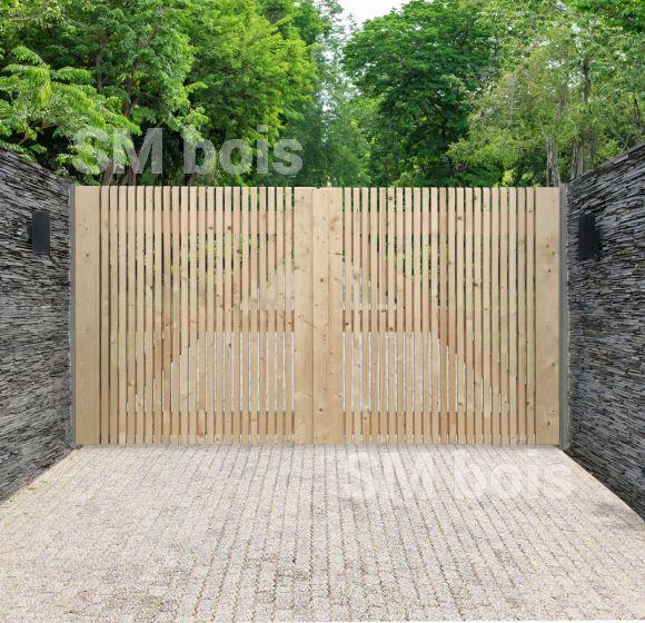 Portail Anvers Portail Et Portillon En Bois S M Bois