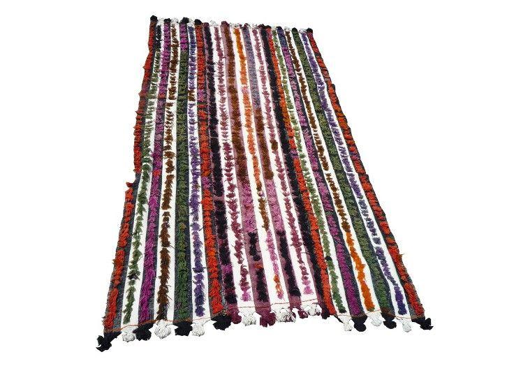 vintage multi colored tulu rug