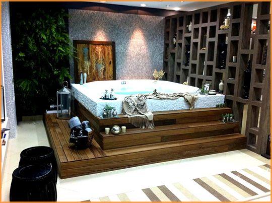 Spa jacuzzi casinhaa pinterest ofur ofuro e spa for Jacuzzi para interior