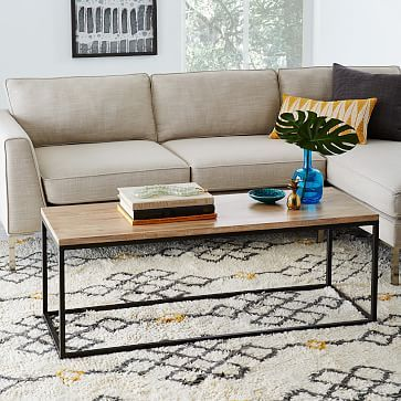 Box Frame Coffee Table Wood Westelm Coffee Table With Storage
