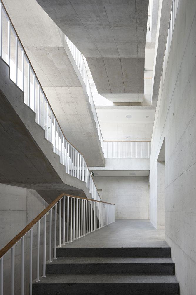 Treppenhaus architektur  Schulhaus Kreuzbühl, Zürich Fischer Architekten AG Treppenhaus ...