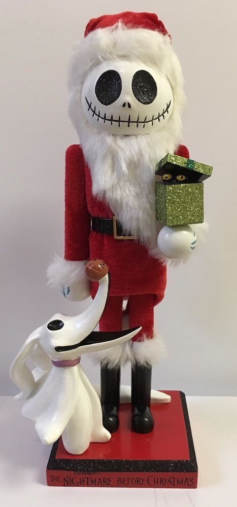 jack skellington and zero beautiful nutcracker disney authentic disney parks the night before christmas ebay - Nightmare Before Christmas Nutcracker