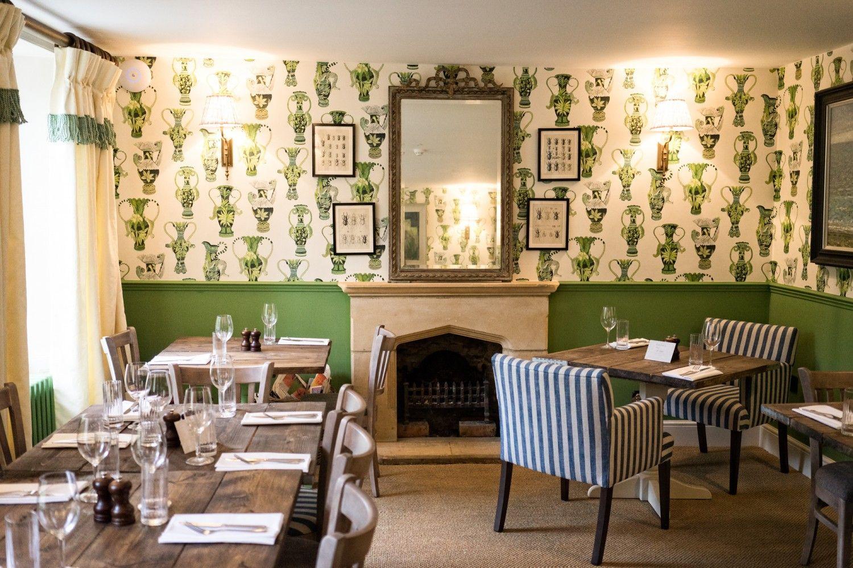 Image result for Botanical Wallpaper Is Taking Over Restaurant Dining Rooms