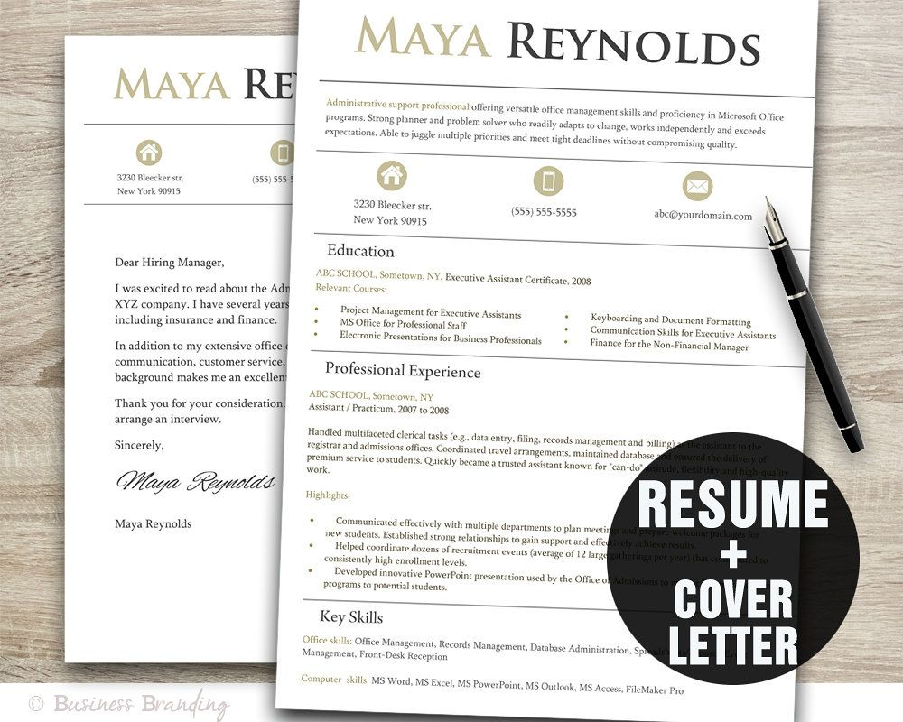 Instant Download Resume  Letterhead  The Will By AndCreative