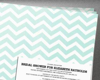 Modern Chevron Zigzag Bridal Shower Invitation