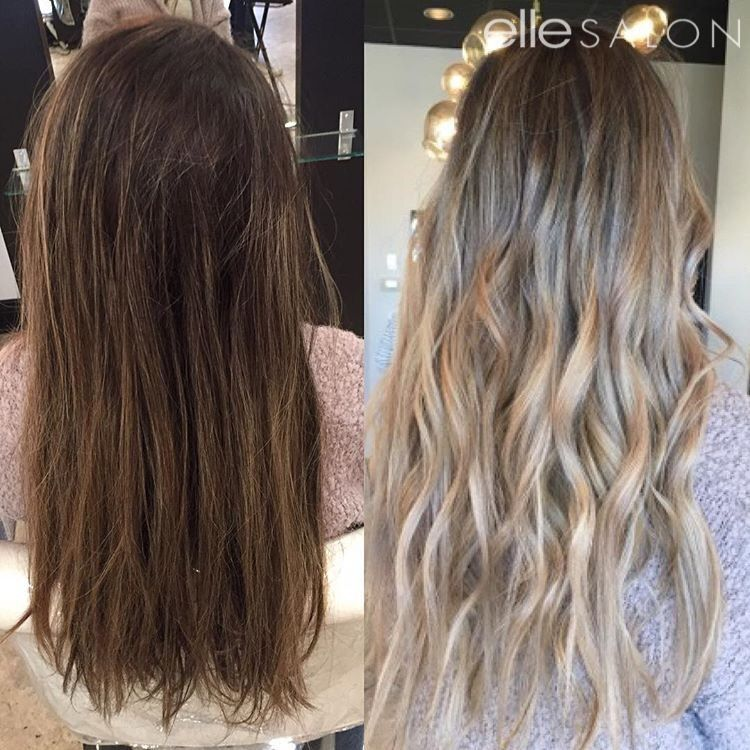 Elle Salon Blonde Hair Brown To Blonde Blonde Hair Transformations