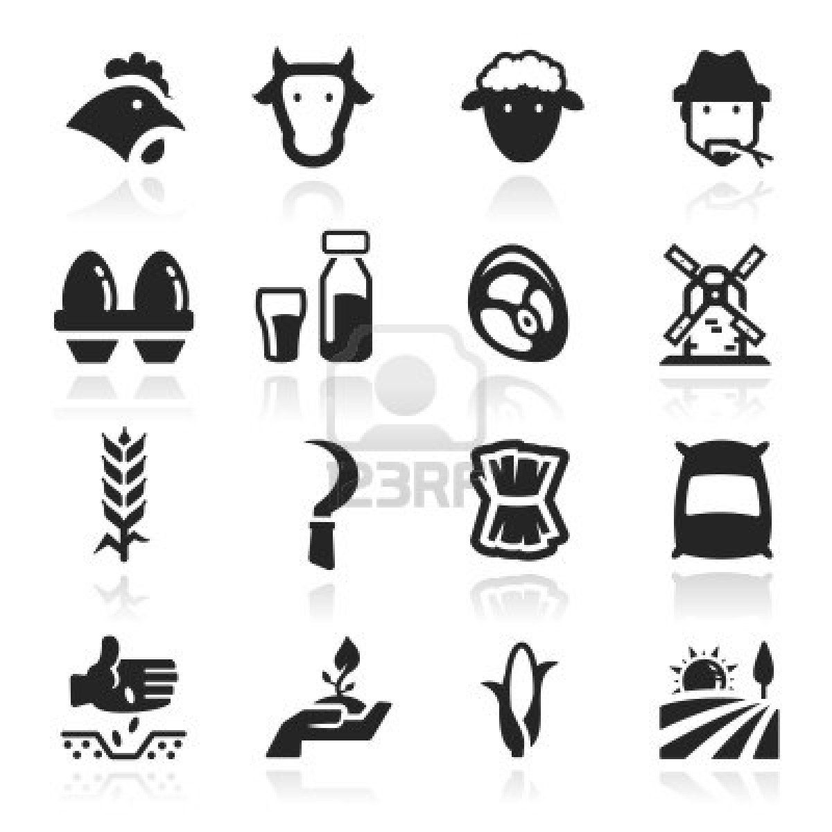 Farm icons set - Elegant series Stock Photo - 12976195