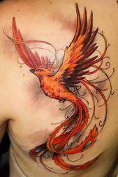 Photo of Phoenix Bird Tattoo Design para hombro #shouldetattoo – #bird #design # for #P …