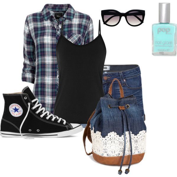 Casual Friday by tampicc on Polyvore featuring Rails, Reiss, Paige Denim, Converse and Pop Beauty