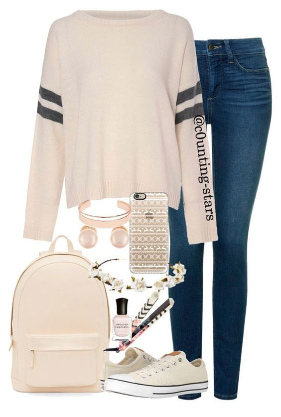 Peach,Colored Inspired Look Cute Outfits for School, check it out at https