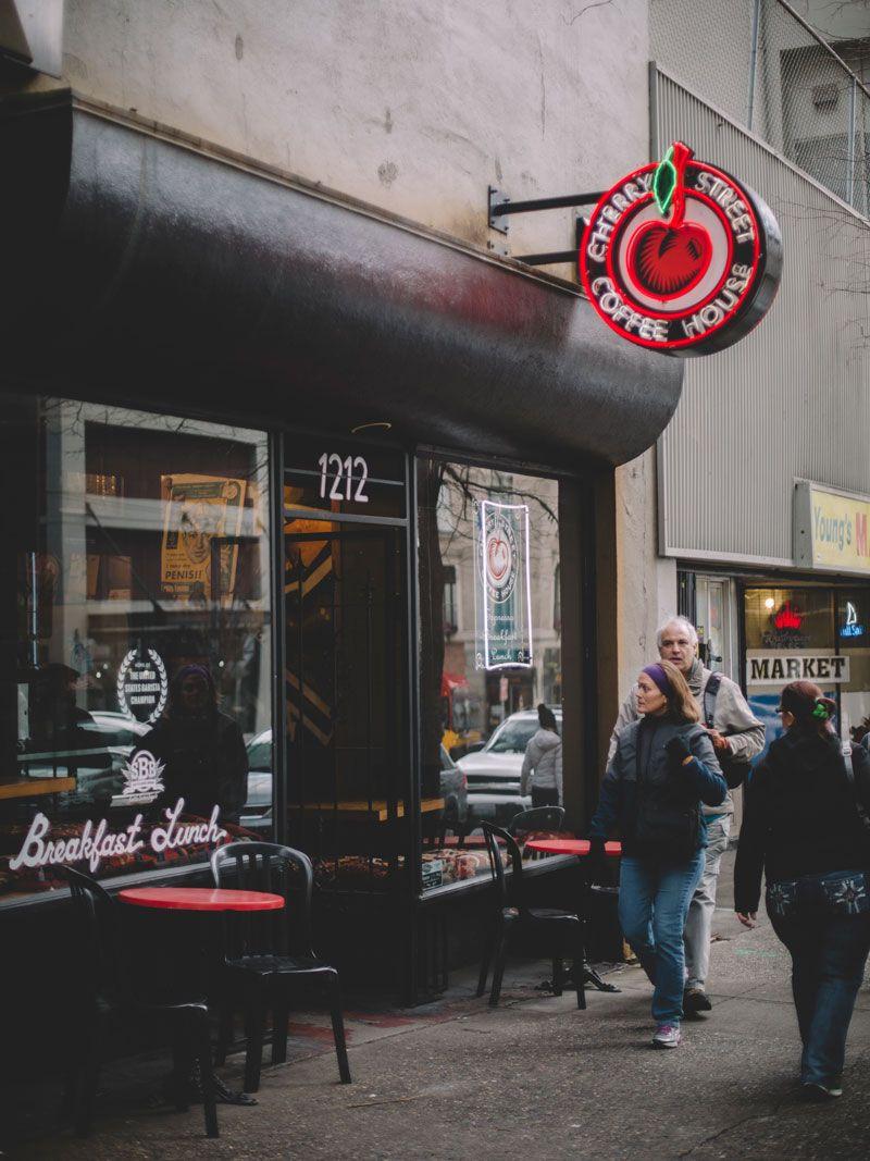 Seattle Cherry Street coffee house Street coffee