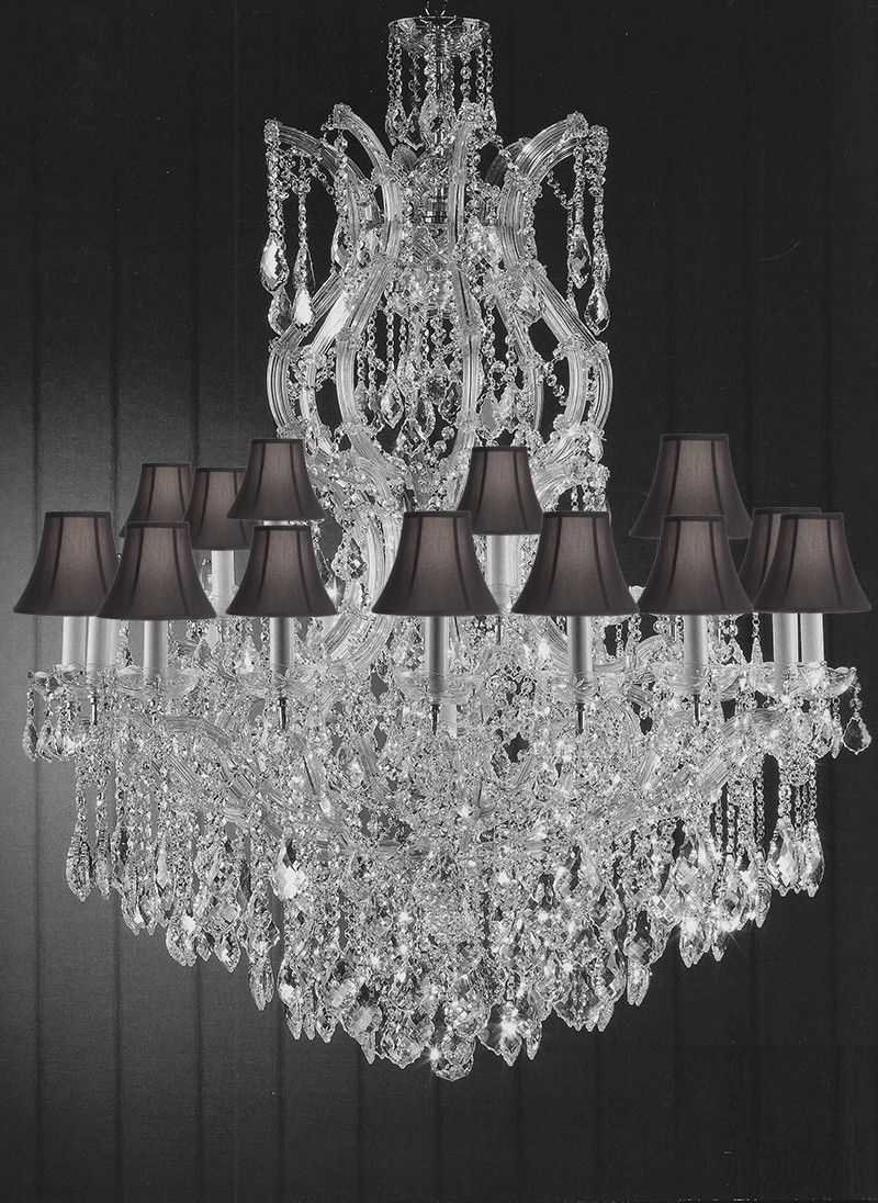 Maria Theresa Crystal Lighting Chandeliers Dressed With