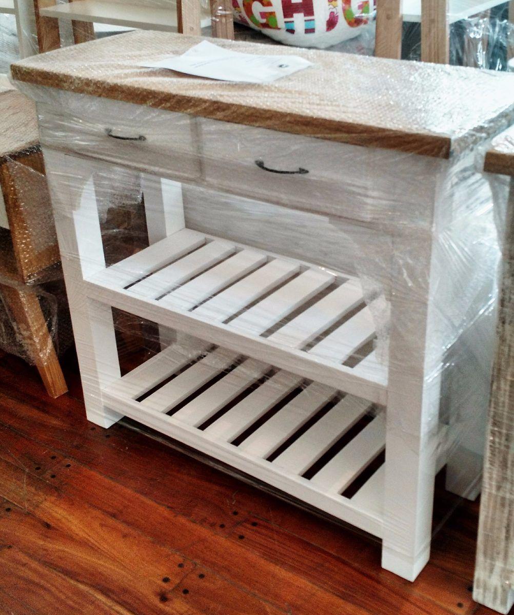 Mesa auxiliar de arrime de cocina en madera miagala for Mesa auxiliar de cocina