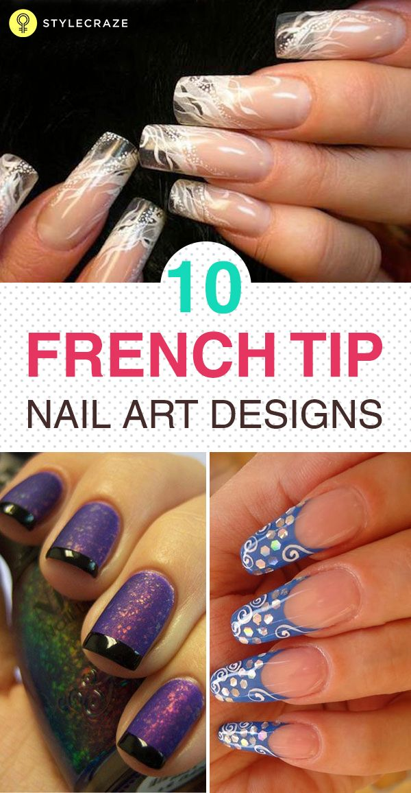 Top 10 Latest French Tip Nail Art Designs - 2018 Update | Funky nail art