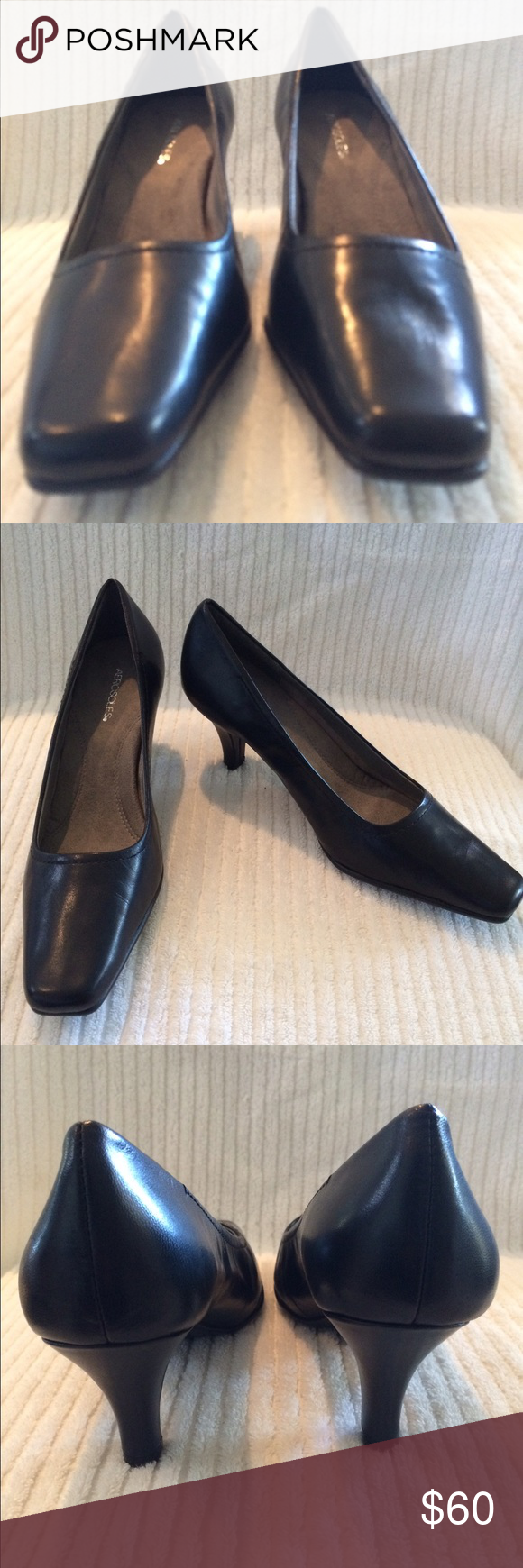 Aerosols low heel leather pumps Very comfortable but never worn outside of the store. AEROSOLES Shoes Heels