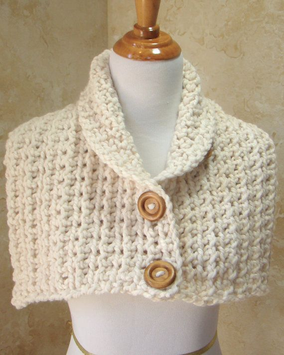 Crochet Scarf, 3 Button scarf, Wrap cowl,Cream 3 Buttons Scarf ...