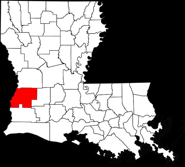 Map of Louisiana highlighting Beauregard Parish