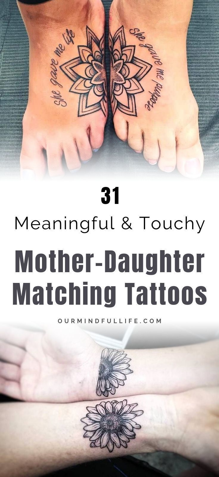 48 Meaningful Mother Daughter Tattoos To Honor Her Unconditional