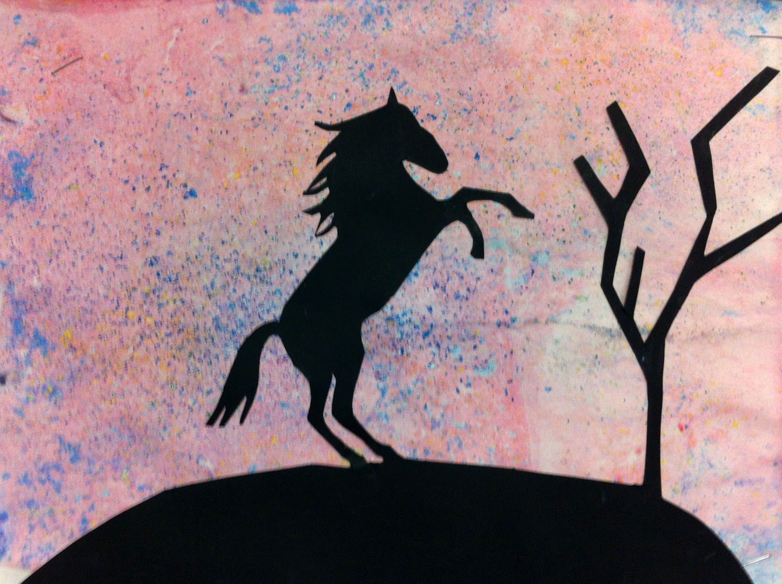 Artisan Des Arts Hand Dyed Paper With Silhouettes