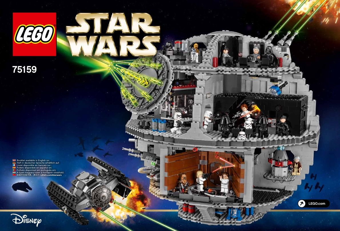 View Lego Instructions For Death Star Set Number 75159 To Help You