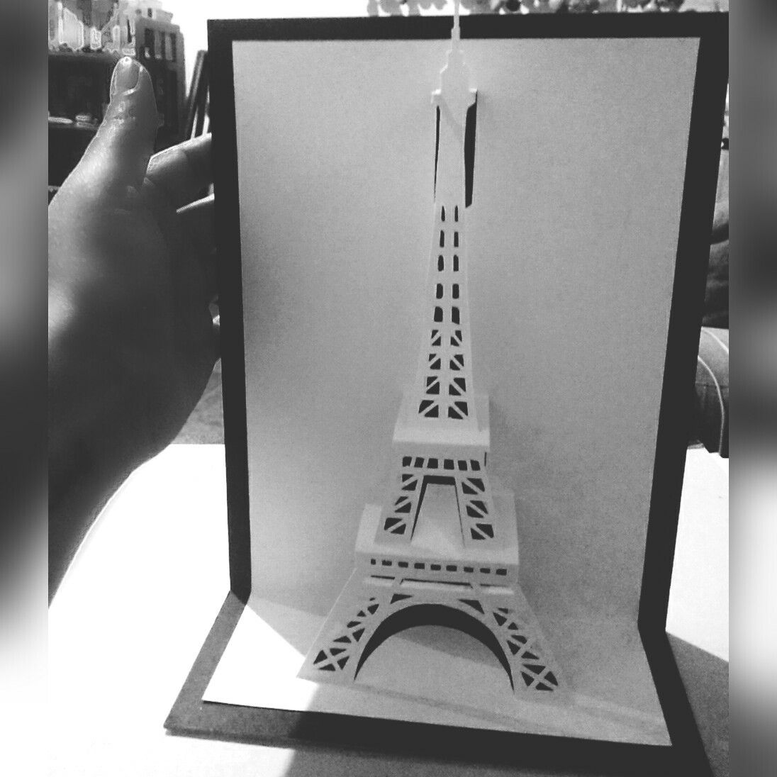 Torre Eiffel / Kirigami / Papel | POP UP | Pinterest | Kirigami ...